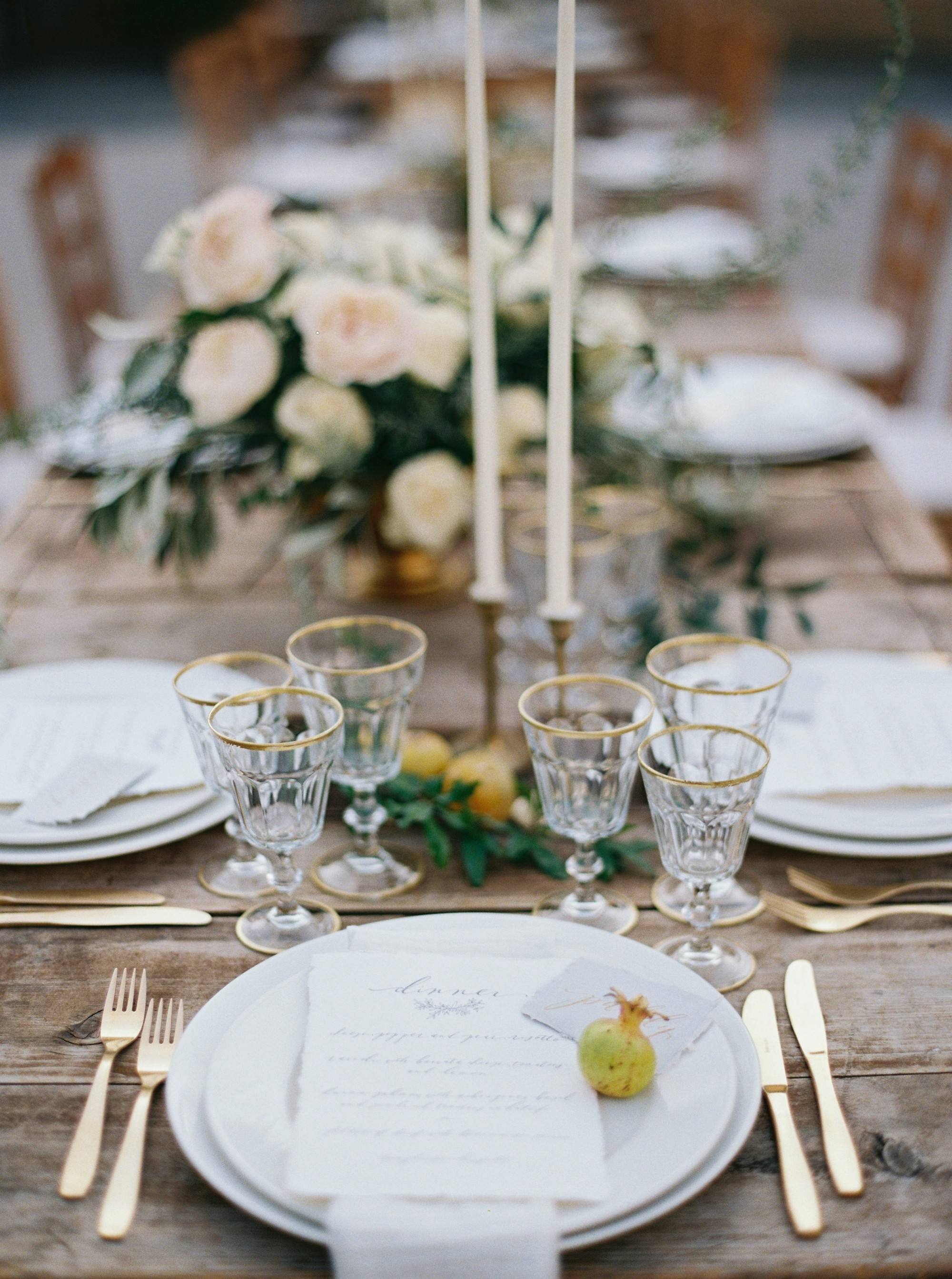 Gold Cutlery Rental